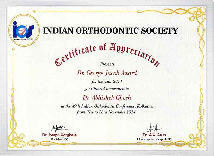 Orthodontia award